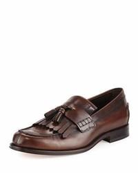 Kiltie leather tassel loafer brown medium 1124929