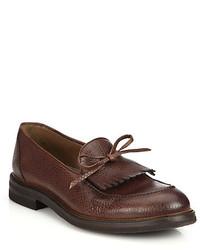 Brunello Cucinelli Kiltie Tassel Leather Loafers