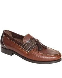 Neil M Fairbanks Walnut Leather Tassel Loafers