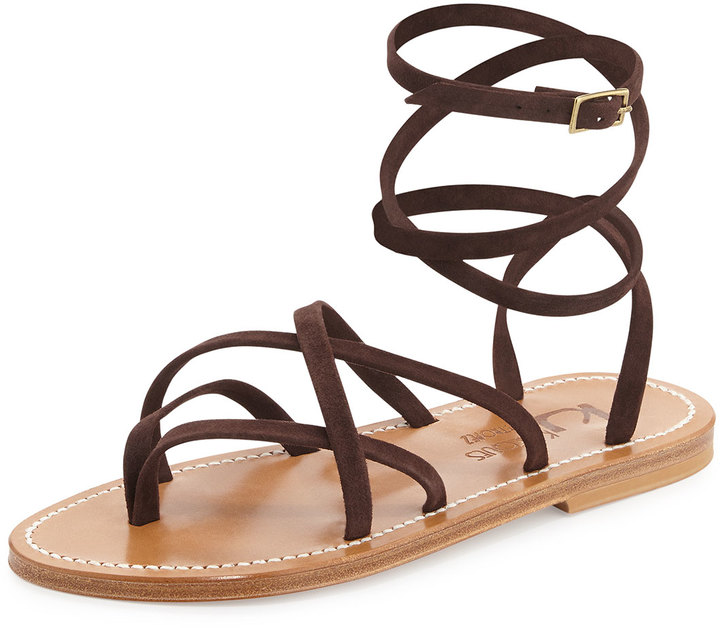 K. Jacques Zenobie Crisscross Lace Up Sandal 32d03b33d