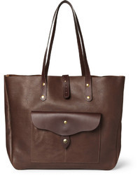 Dark Brown Leather Tote Bag