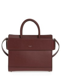 Givenchy Small Horizon Calfskin Leather Tote Brown
