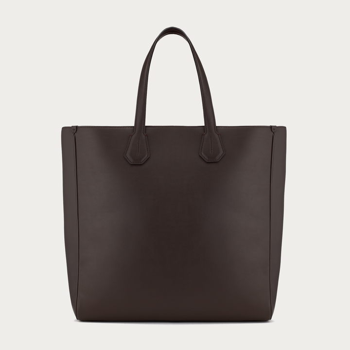 great discount high fashion brand quality $1,695, Bally Monogramme Tote Large Dark Brown Leather Tote Bag