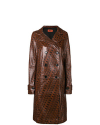 Dark Brown Leather Trenchcoat