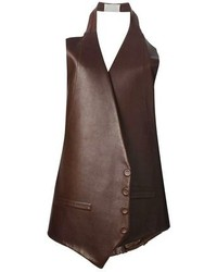 Dark Brown Leather Vest