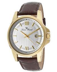 Lucien Piccard 10048 Yg 02s Brw Breithorn Dark Brown Genuine Leather
