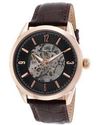 Lucien Piccard 10660a Rg 01 Brw Loft Dark Brown Genuine Leather Black