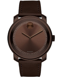 425mm bold watch with leather strap chocolate medium 594611