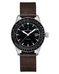 Hamilton Aviation Converter Automatic Leather Watch