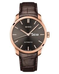 MIDO Belluna Ii Leather Strap Watch