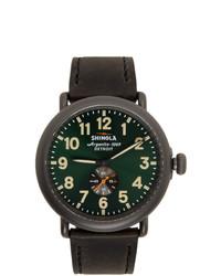Shinola Black And Green The Runwell 47mm Watch
