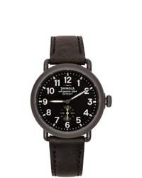 Shinola Black The Runwell 41mm Watch