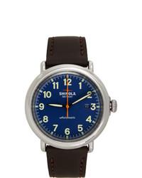 Shinola Blue And Brown The Runwell Chrono 41mm Watch