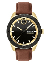 Movado Bold Sport Leather Watch