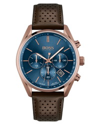BOSS Champion Chronograph Leather Watch