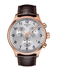 Tissot Chrono Xl Collection Chronograph Leather Strap Watch