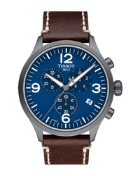 Tissot Chrono Xl Leather Chronograph Watch