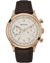 Bulova Classic Brown Leather Strap Watch 97b148