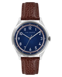 Ted Baker London Daquir Leather Watch