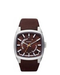 Diesel Brown Leather Quartz Watch