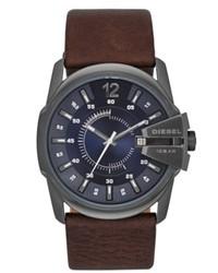 Diesel Watch Master Chief Brown Leather Strap 51x45mm Dz1618