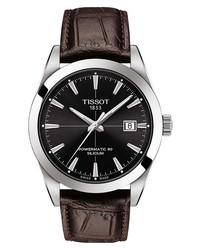 Tissot Gentleman Powermatic Leather Watch