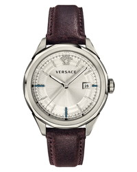 Versace Glaze Leather Watch