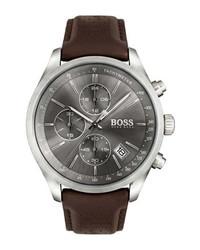 BOSS Grand Prix Chronograph Leather Watch