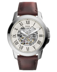 Fossil Grant Automatic Leather Watch
