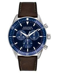 Movado Heritage Chrono Leather Watch