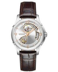 Hamilton Jazzmaster Open Heart Automatic Leather Strap Watch 40mm