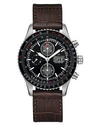 Hamilton Khaki Aviation Converter Converter Chronograph Leather Watch