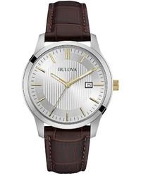 Bulova Leather Watch 98b266
