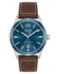 BOSS Leather Watch
