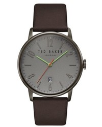 London thomas leather strap watch 41mm medium 4952392
