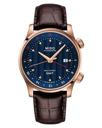 MIDO Multifort Automatic Leather Strap Watch