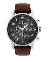 BOSS Navigator Chronograph Leather Watch