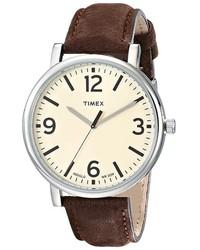 Timex Originals Classic Round Leather Strap Watch