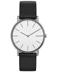 Skagen Signatur Leather Strap Watch 40mm