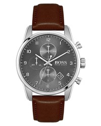 BOSS Skymaster Chronograph Leather Watch