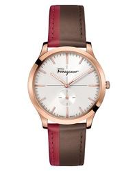 Salvatore Ferragamo Slim Formal Leather Watch
