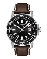 Tissot Supersport Qua Leather Watch