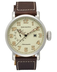 Szanto leather strap watch 46mm medium 748808