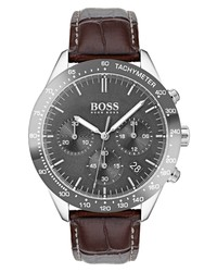 BOSS Talent Chronograph Leather Watch
