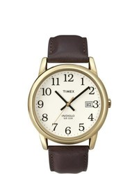 Timex Easy Reader Brown Leather Strap Watch