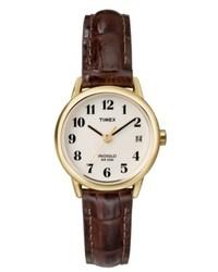 Timex Watch Brown Leather Strap T20071um