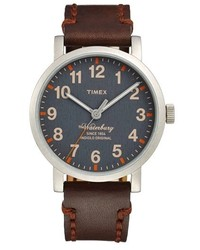 Timex waterbury leather strap watch 40mm medium 132795