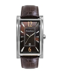 Tommy Bahama Havana Leather Strap Watch 25mm X 33mm Brown
