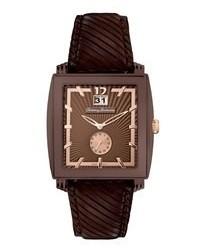 Tommy Bahama Watch Swiss Dark Brown Leather Strap 40mm Tb1125