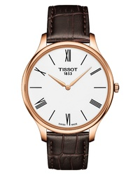 Tissot Tradition 55 Round Leather Watch